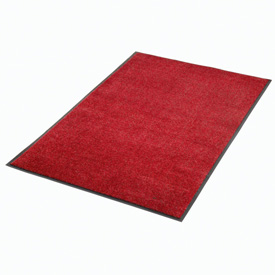 "Plush Super Absorbent Mat 48""W X 96""L Red-Black"