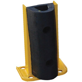 "Steel Rack Guard With Rubber Bumper 7.5""Wx3.75""Dx12""H"