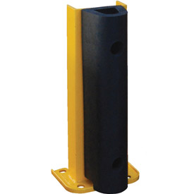 "Steel Rack Guard With Rubber Bumper 7.5""Wx3.75""Dx18""H"