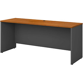 Credenza Shell In Natural Cherry - Office Furniture Groupings