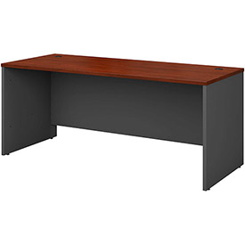 "Bush Furniture Wood Desk Shell - 72"" - Hansen Cherry - Series C"