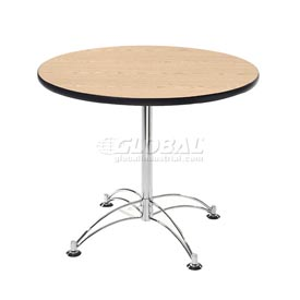 "OFM 36"" Lunchroom Table - Round - Oak"