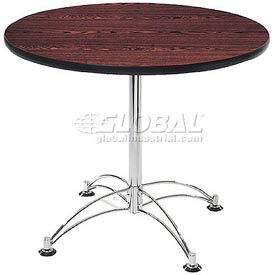 "OFM 36"" Lunchroom Table - Round - Mahogany"