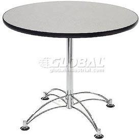 "OFM 42"" Lunchroom Table - Round - Gray"
