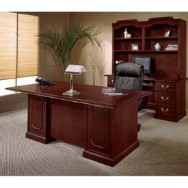 "72"" Double Pedestal Desk Without Center Drawer"
