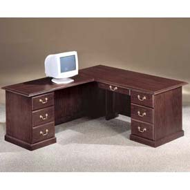 "66"" L Shape Desk With Center Drawer Left Return"