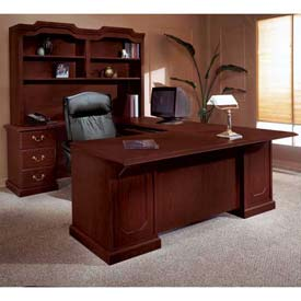 "72"" U Shape Desk With Center Drawer Left Return"