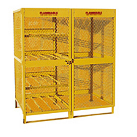 "Global™ Cylinder Storage Cabinet - Combo Double Door 8 & 10 Cylinders - 64""W x 40""D x 71""H"