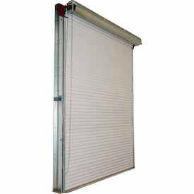 DBCI 10 x 8 White Manual Push-Up 2000 Series Roll-Up Dock Door