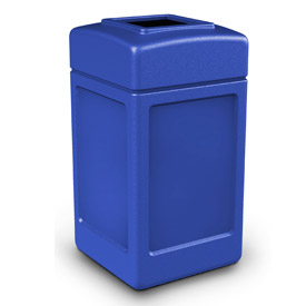 42 Gallon Square Waste Receptacle - Blue