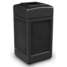 42 Gallon Square Waste Receptacles - Black