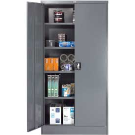Cabinets | Storage | Global™ Steel Storage Cabinet Recessed ...