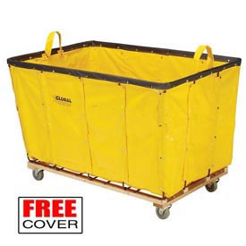 Best Value 12 Bushel Yellow Vinyl Basket Bulk Truck