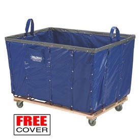 Best Value 12 Bushel Blue Vinyl Basket Bulk Truck
