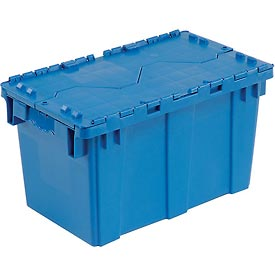 Plastic Shipping Container - Hinged Lid Storage DC2213-12 22-3/8 x 13 x 13 Blue