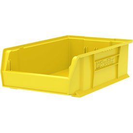 "Akro-Mils Super-Size AkroBin® 30280 - Stacking Bin 12-3/8""W x 20""D x 6""H  Yellow - Pkg Qty 4"