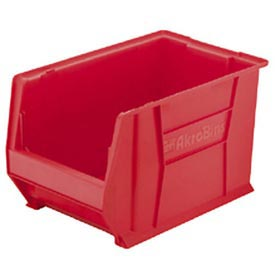 "Akro-Mils Super-Size AkroBin® 30280 - Stacking Bin 12-3/8""W x 20""D x 6""H Red - Pkg Qty 4"