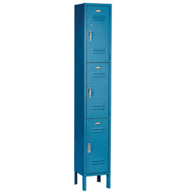 Paramount® Locker 3 Tier 12 X 15 X 24 3 Door Assembled Blue