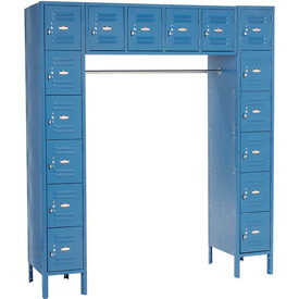 Paramount® 16 Person Locker 12  X 18 X 12 Assembled Blue