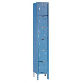 Hallowell U1258-6A-MB Premium Locker Six Tier 12x15x12 6 Door Assembled Blue