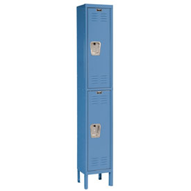 Hallowell U1288-2A-MB Premium Locker Double Tier 12x18x36 2 Door Assembled Blue