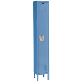 Hallowell U1228-1MB Premium Locker Single Tier 12x12x72 1 Door Ready Assemble Blue
