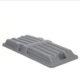Gray Lid for Blue Recycling 1 Cubic Yard Tilt Truck