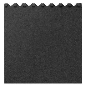 Cushion Modular Matting 5/8 Inch Thick 3' X 3' Solid With Grit Black