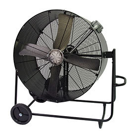 TPI PBS36BHL,36 Inch Portable Blower Fan Belt Drive Swivel Base Hazardous Location 1/2 HP 6900 CFM