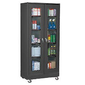 Sandusky Clear View Storage Cabinet EA4V462472 - 46x24x72, Black