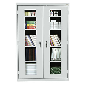 Sandusky Clear View Storage Cabinet EA4V462472 - 46x24x72, Light Gray