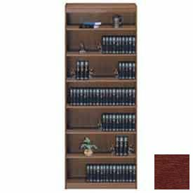 "Unassembled 84""H Contemporary Square Edge Bookcase Medium Cherry"