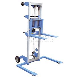 Vestil Lightweight Hand Operated Lift Truck A-LIFT-S-EHP 400 Lb. Straddle Legs