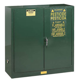 Pesticide Cabinet Self Close Double Door 30 Gallon