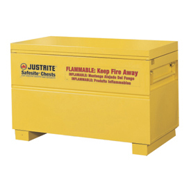 "Justrite Safesite™ Storage Flammable Chest, 48""W x 24""D x 31-1/8""H, Yellow"