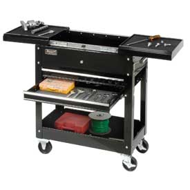 "Homak 27"" 2-Drawer Tool Cart W/ Sliding Top"