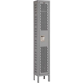 Hallowell U1588-1HV-A-HG Heavy-Duty Ventilated Locker Single Tier 15x18x72 1 Door Assembled