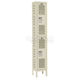 Hallowell U1288-2HV-A-PT Heavy-Duty Ventilated Locker Double Tier 12x18x36  2 Door Assembled