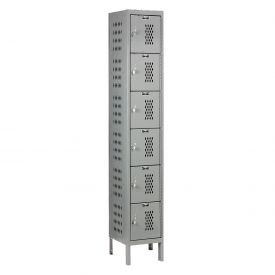 Hallowell U1258-6HDV-HG Heavy-Duty Ventilated Locker Six Tier 12x15x12 6 Door Unassembled