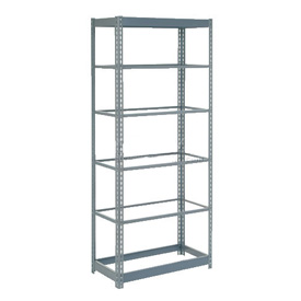 "Heavy Duty Shelving 36""W x 12""D x 72""H With 6 Shelves, No Deck"