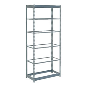 "Heavy Duty Shelving 36""W x 18""D x 72""H With 6 Shelves, No Deck"