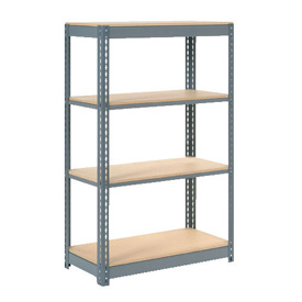 "Heavy Duty Shelving 36""W x 18""D x 72""H With 4 Shelves, Wood Deck"