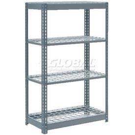 "Heavy Duty Shelving 36""W x 12""D x 72""H With 4 Shelves, Wire Deck"