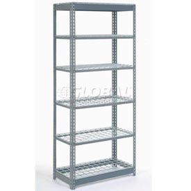 "Heavy Duty Shelving 36""W x 12""D x 72""H With 6 Shelves, Wire Deck"