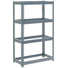 "Extra Heavy Duty Shelving 36""W x 12""D x 72""H With 4 Shelves, No Deck"