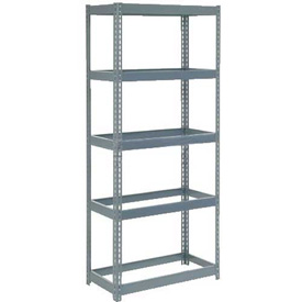 """Extra Heavy Duty Shelving 36""""W x 12""""D x 72""""H With 5 Shelves, No Deck"""
