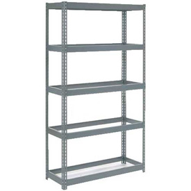 "Extra Heavy Duty Shelving 48""W x 12""D x 72""H With 5 Shelves, No Deck"