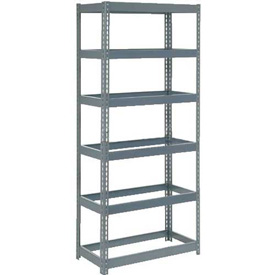 "Extra Heavy Duty Shelving 36""W x 24""D x 72""H With 6 Shelves, No Deck"
