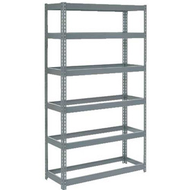 "Extra Heavy Duty Shelving 48""W x 18""D x 72""H With 6 Shelves, No Deck"
