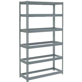 "Extra Heavy Duty Shelving 48""W x 24""D x 72""H With 6 Shelves, No Deck"